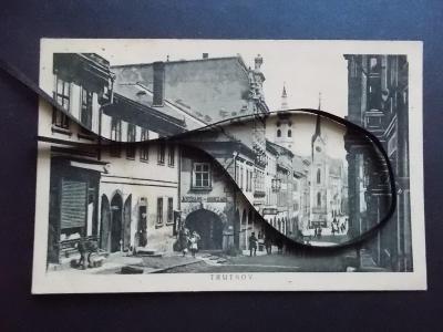 Trutnov Krkonoše Trautenau živá ulice obchody nábytek