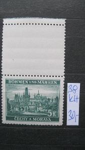 BuM - čistá známka  katal. číslo 38 s horním kuponem