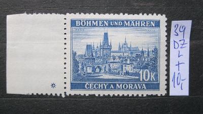 BuM - čistá známka  katal. číslo 39 s levou DZ křížek