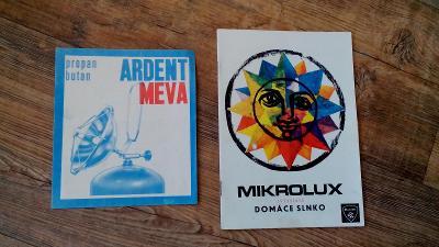 MIKROLUX DOMÁCE SLNKO, ARDENT MEVA, EL.PODUŠKA, ČSSR, 1969-71,záručáky