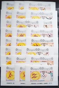 Fujeira 1972 Olympijské hry, DeLuxe,  katalog cena 200Euro!