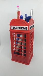 Stojan na tužky  - anglická telefonní budka