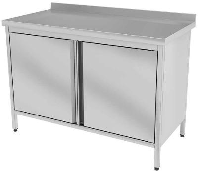 Nerezový stůl se skříňkou 160x60x85cm
