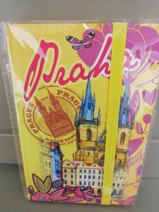 Diář Praha A6/ blok žlutý