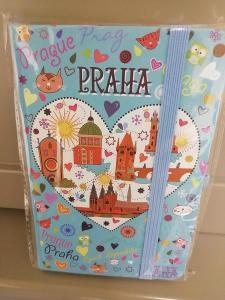 Diář Praha A6/ blok modrý srdce