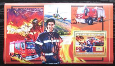 Guinea 2006 Francouzští hasiči DELUXE Mi# Block 1073 1880