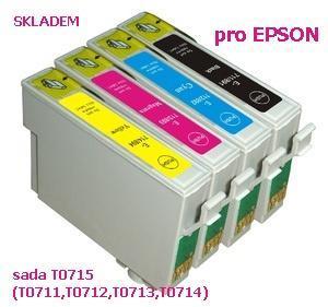 Náplně T0715 pro Epson (T0711,T0712,T0713,T0714)