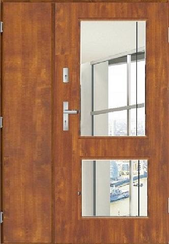 Venkovní dvoukřídlé vchodové dveře SKADI 2 UNO