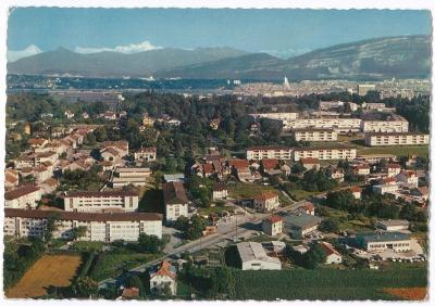 ŠVÝCARSKO , Ženeva , Le Grand Saconnex + Mont Blanc , prošlá