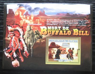 Guinea 2007 Buffalo Bill Mi# Block 1432 Kat 7€ 1881