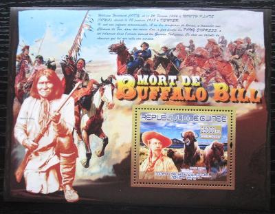 Guinea 2007 Buffalo Bill Mi# Block 1433 Kat 7€ 1881