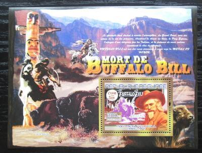 Guinea 2007 Buffalo Bill Mi# Block 1434 Kat 7€ 1881