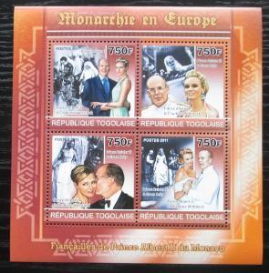 Togo 2011 Evropští monarchové Mi# 3989-92 Kat 12€ 1884