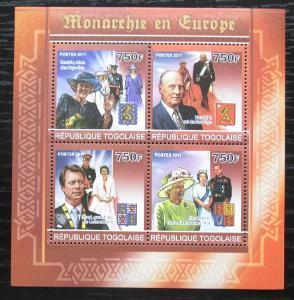 Togo 2011 Evropští monarchové Mi# 3993-96 Kat 12€ 1884