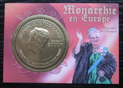 Togo 2011 Dánská královna Markéta II. Mi# Block 608 Kat 12€ 1884