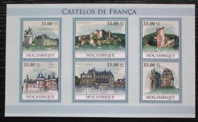 Mosambik 2010 Francouzské hrady a zámky Mi# 4041-46 Kat 10€ 1885