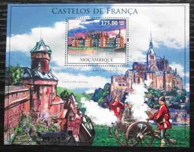 Mosambik 2010 Francouzské hrady a zámky Mi# Block 371 Kat 10€ 1885