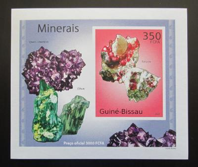 Guinea-Bissau 2010 Minerály DELUXE neperf Mi# 4985 B Block 1885