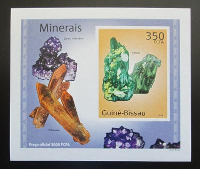 Guinea-Bissau 2010 Minerály DELUXE neperf Mi# 4986 B Block 1885