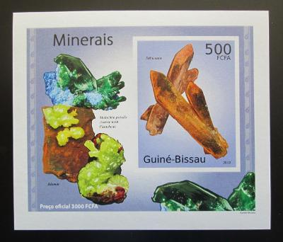 Guinea-Bissau 2010 Minerály DELUXE neperf Mi# 4987 B Block 1885
