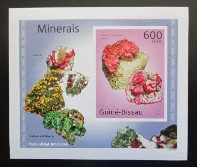 Guinea-Bissau 2010 Minerály DELUXE neperf Mi# 4989 B Block 1885