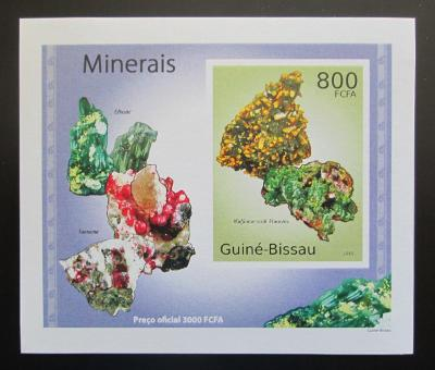 Guinea-Bissau 2010 Minerály DELUXE neperf Mi# 4990 B Block 1885