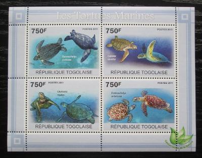 Togo 2011 Želvy Mi# 3889-92 Kat 12€ 1886