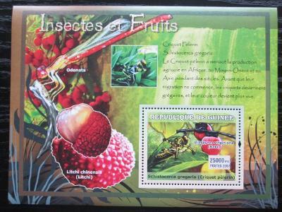 Guinea 2007 Hmyz a ovoce Mi# Block 1217 Kat 7€ 1887