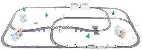 Elektrická dráha Vláčkodráha nákladní vlak na baterie + dárek