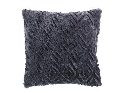 Tmavá šedý dekorativní polštář LUXOR, 40x40 cm