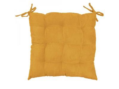 Žlutý polštář na židli SUEDINE, 40x40 cm