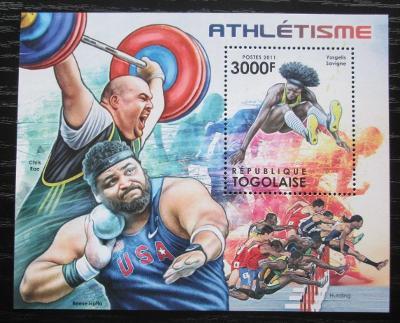 Togo 2012 Lehká atletika Mi# Block 690 Kat 12€ 1880