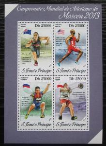 Svatý Tomáš 2013 MS v lehké atletice Mi# 5451-54 Kat 10€ 1881