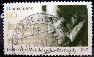 DEUTSCHLAND: MiNr.1953 Felix Mendelssohn-Bartholdy 110pf 1997