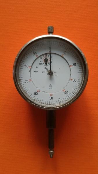 Vintage - Úchylkoměr číselníkový z 50 let - funkční 1/100mm.
