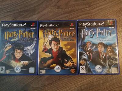 PS2 - Harry Potter - první tři díly v CZ (tit a popisky)