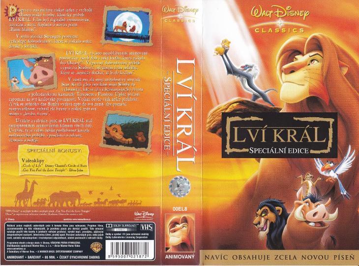 LVÍ KRÁL - SPECIÁLNÍ EDICE - výprodej VHS ČESKÝ ZVUK akce TOP STAV - Film