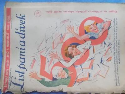 Starý časopis Lit paní a dívek 1934 móda vaření reklama komiks Puňťa