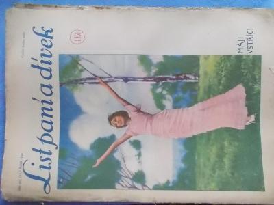 Starý časopis Lit paní a dívek 1934 móda vaření reklama radio Philips