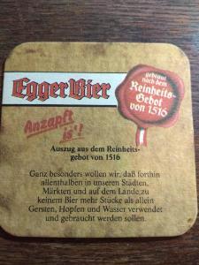 Staré pivní tácky - EGGER, Rakousko