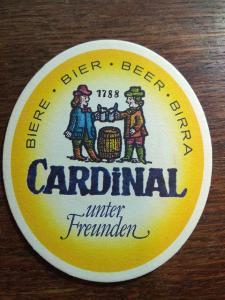 Staré pivní tácky - CARDINAL, Švýcarsko