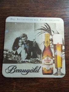 Staré pivní tácky - BRAUGOLD, Německo