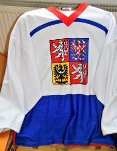 Hokejový dres CZECH /vel.ikost XL, bezvadný stav/