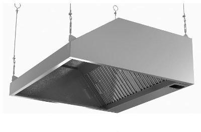 Nástěnná digestoř s filtrem a osvětlením 80x70cm