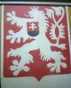 Státní znak ČSSR lev na mlok a jehličí