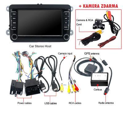 Android 2din autoradio - KAMERA, GPS navigace VW VOLKWSAGEN SKODA SEAT