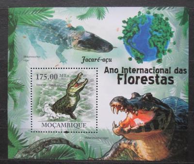 Mosambik 2011 Kajman černý Mi# Block 410 Kat 10€ 1712