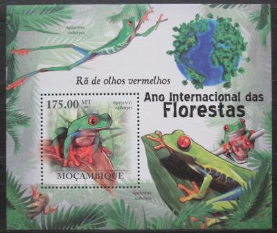 Mosambik 2011 Listovnice červenooká Mi# Block 408 Kat 10€ 1712