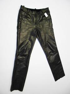 Kožené kalhoty- vel. XL/54, zachovalý stav, pas: 92 cm