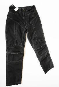 Textilní kalhoty letní PROBIKER- vel. S/48, chrániče kolen